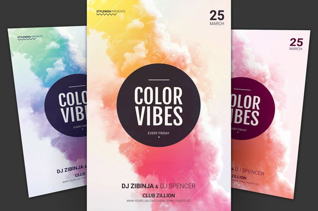 Color Vibes poster design by Wout Vromans stylewish