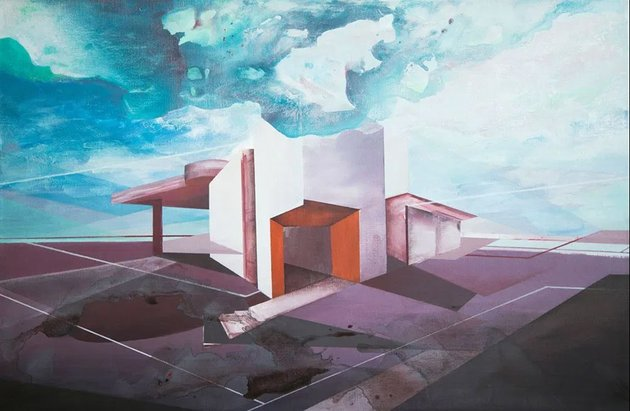 Architecture acrylic on canvas by Wout Vromans stylewish