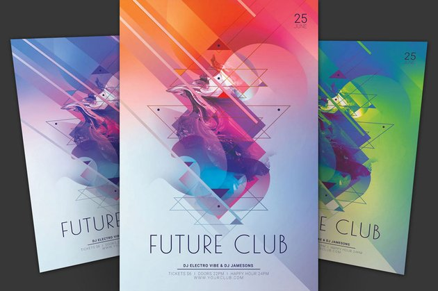 Future Club poster design by Wout Vromans stylewish
