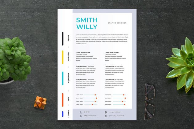 InDesign Simple CV Resume Template