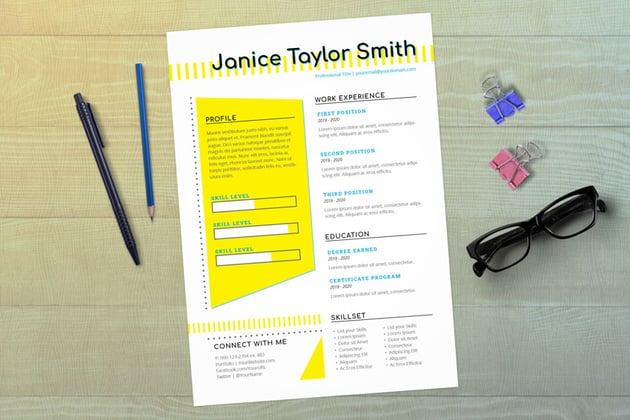 Creative InDesign Resume Template