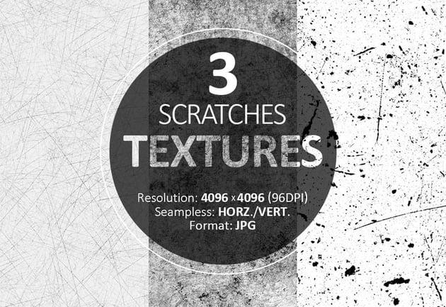 3 Free Scratches Textures Overlays