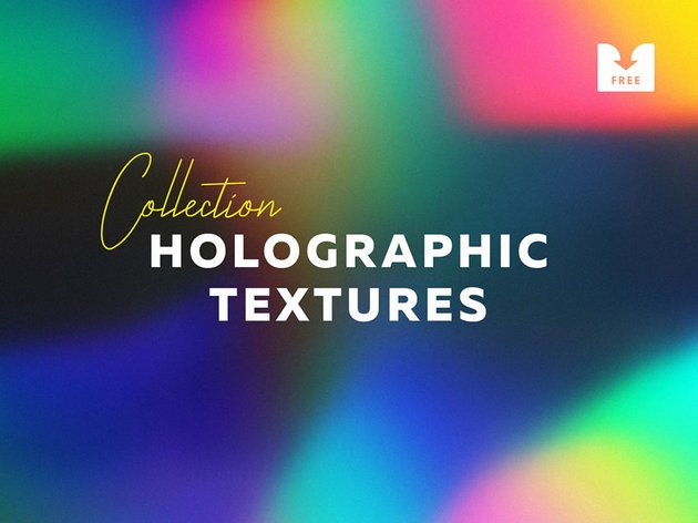 8 Free Holographic Texture Overlays
