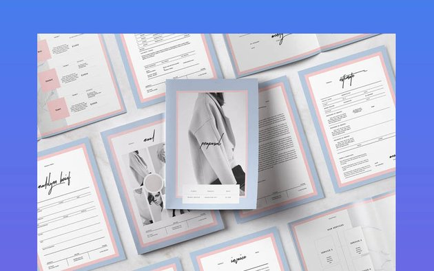 Madelynn Pitch Pack InDesign Design Templates