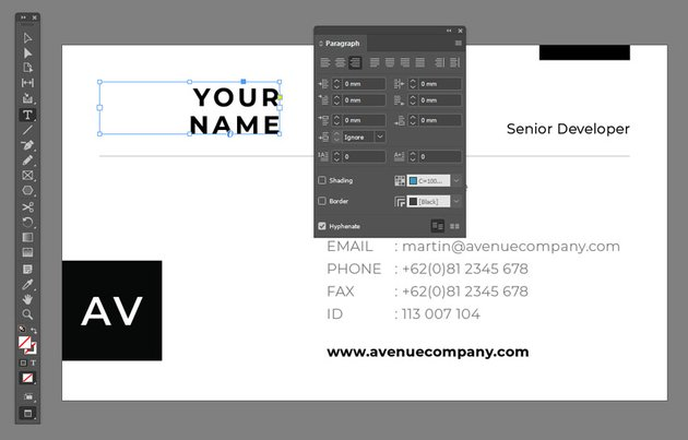 Paragraph Panel InDesign