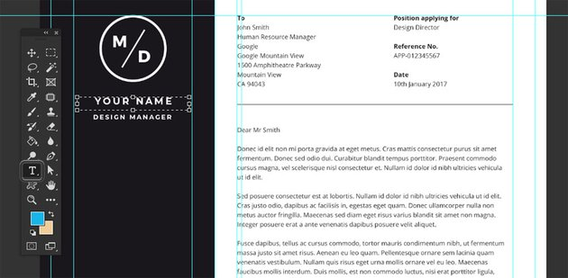 Resume Design Photoshop
