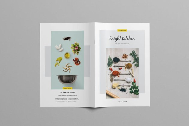 A5 Cookbook Template Design