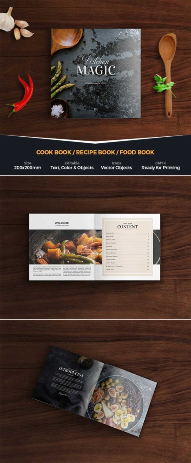 Kitchen Stories Cook Book Design Template