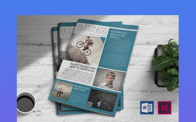 Business Newsletter Template MS Word