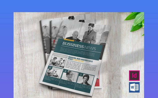 Microsoft Word Newsletter Template Business