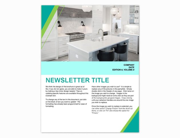 microsoft office newsletter templates for word
