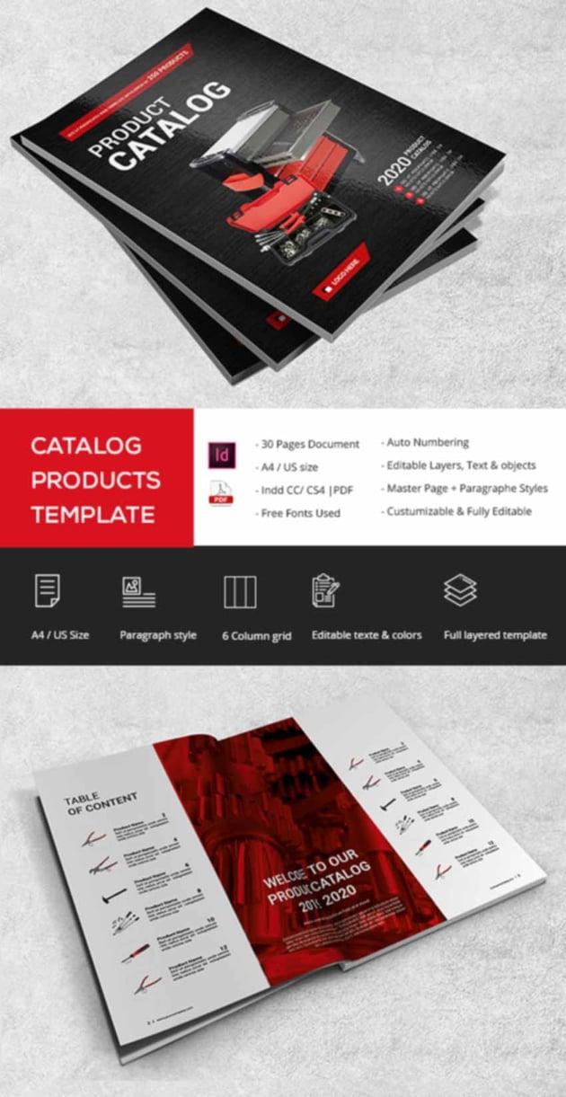 Product Catalog Template Design