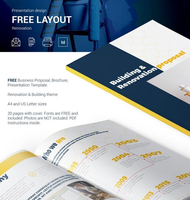 Free Business Proposal Template InDesign