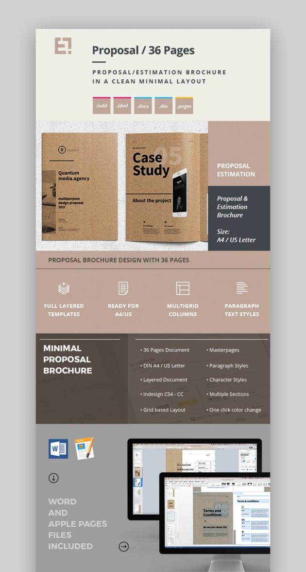 InDesign Proposal Template Design  Brochure