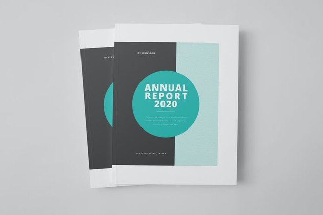 report template design for Adobe InDesign
