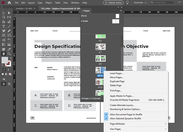 InDesign Delete Pages