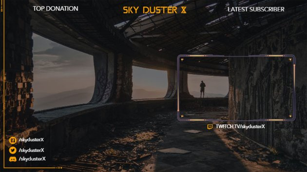 Twitch Overlay Maker Template for Gaming Streamers