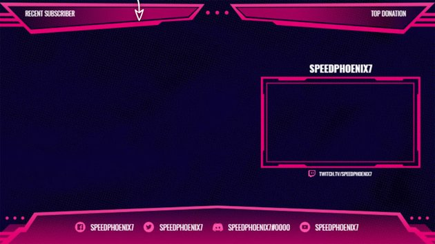 Twitch Stream Overlay for OBS with Sharp Lines