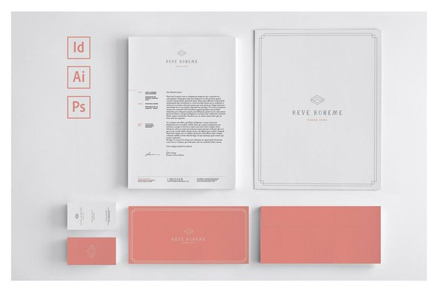 professional stationery template