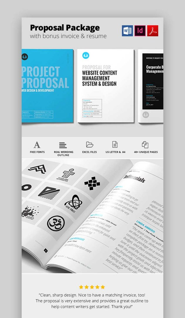 Minimal - Word and InDesign Proposal Template