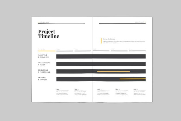 InDesign proposal infographics