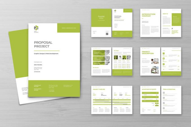business proposal indesign branding