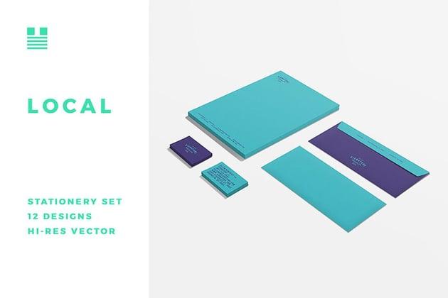 Office Stationery Design Set