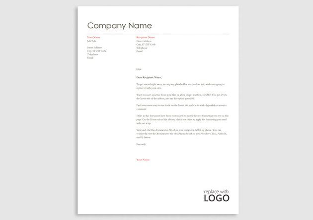 stationery template word