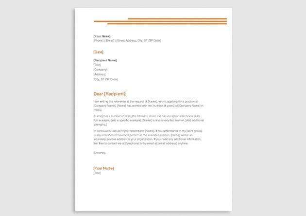 Orange Letterhead Design Free Stationery
