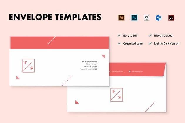 Stationery Envelope Design Template
