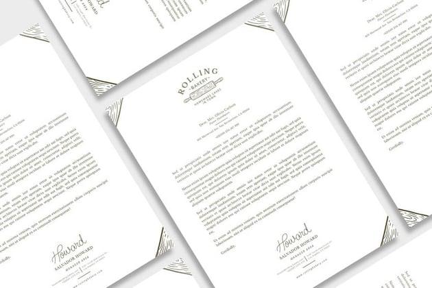 letterhead stationery design