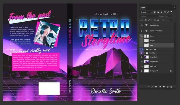 80s book cover design