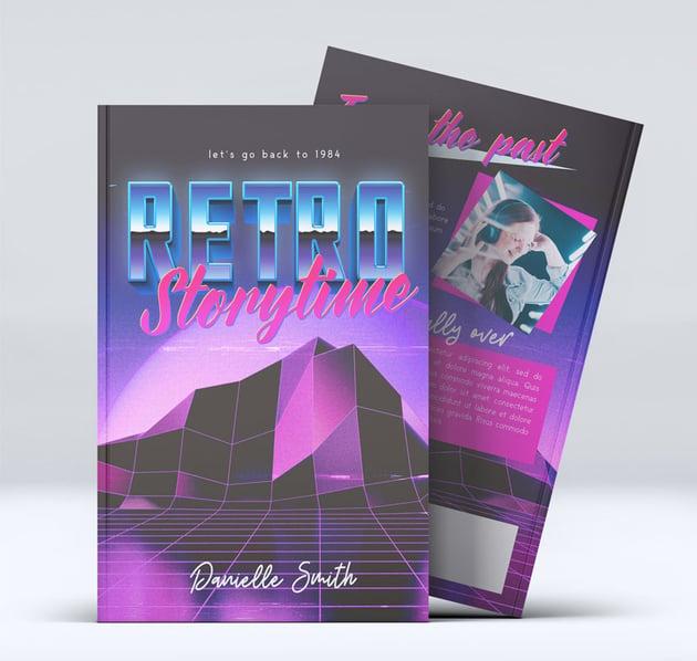 book cover design mockup template