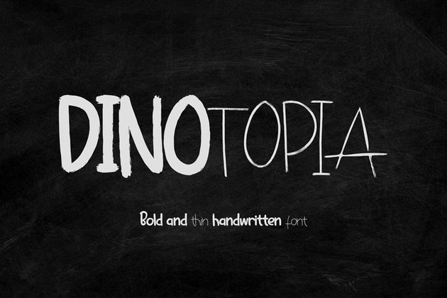 Dinotopia Handwritten Chalk Font