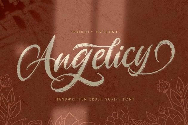 Angelicy Chalkboard Script Font