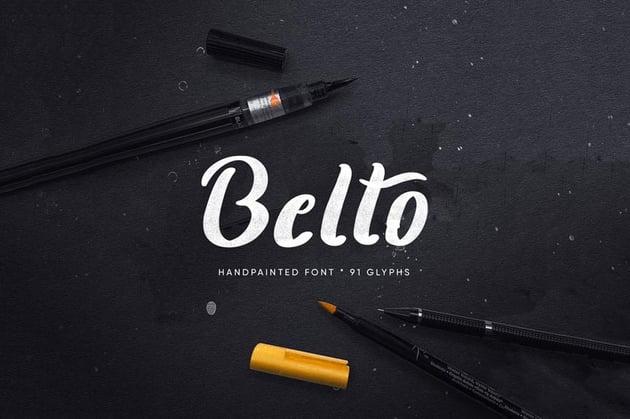 Belto Cursive Chalk Font