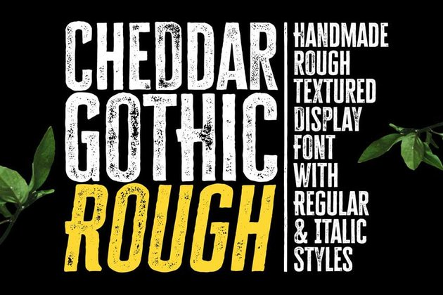 Cheddar Gothic Rough Chalkboard Lettering Font