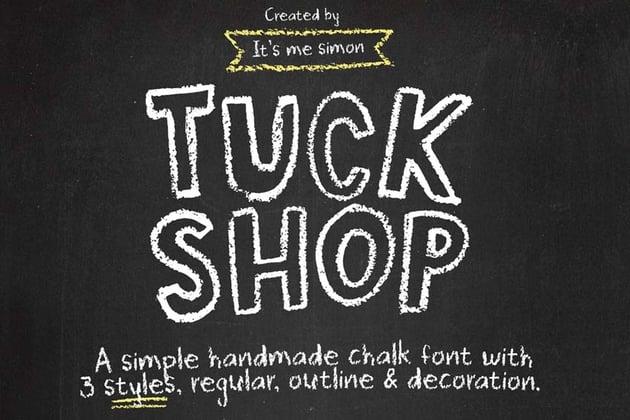 Tuck Shop Chalkboard Lettering Font