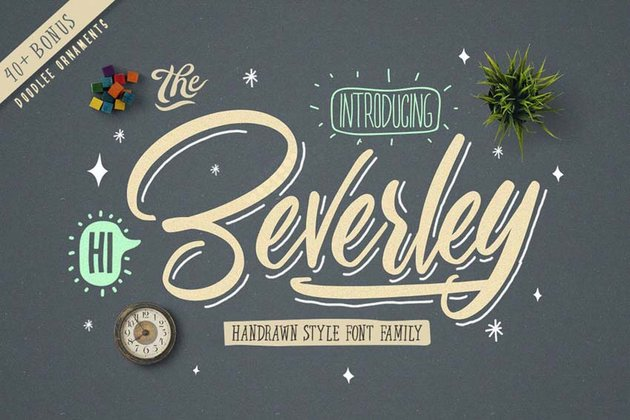 Beverly Cursive Chalkboard Font