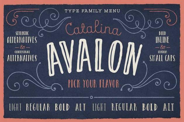 Catalina Avalon Chalk Lettering Font
