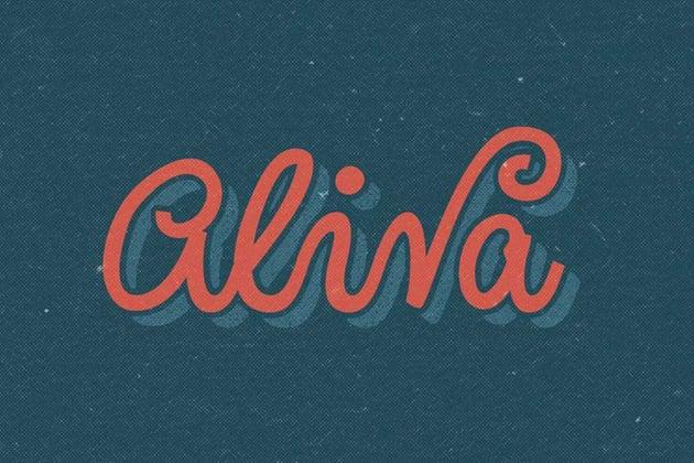 Aliva Cursive Chalk Font
