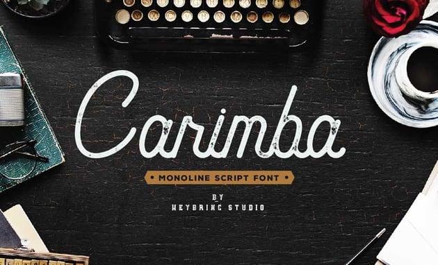 Carimba Free Script Font