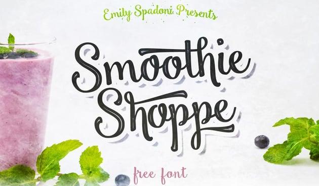 Smoothie Shoppe Free Font