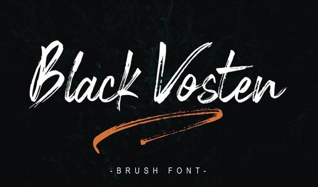 Black Vosten Free Font