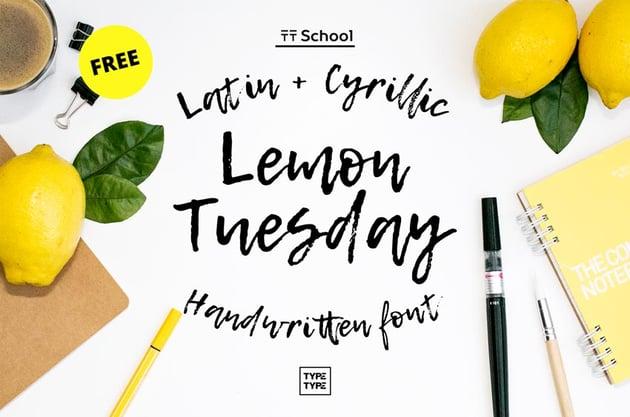 Lemon Tuesday Free Font
