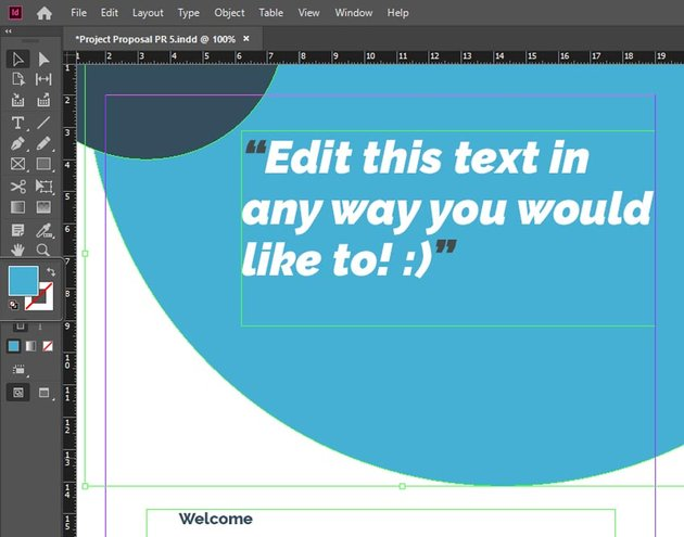InDesign Fill Color