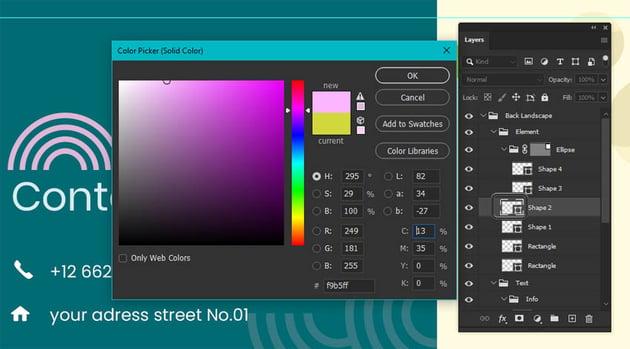 Photoshop Shape Colors