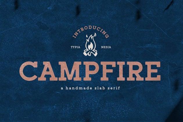 Campfire Slab Typeface Font