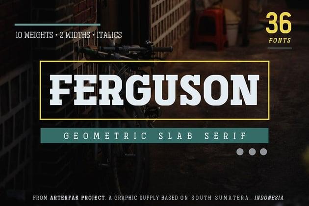Ferguson Geometric Slab Font