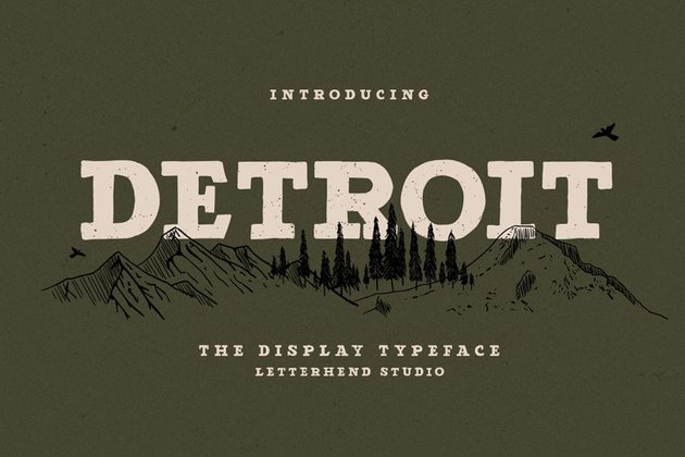 Detroit Block Serif Font